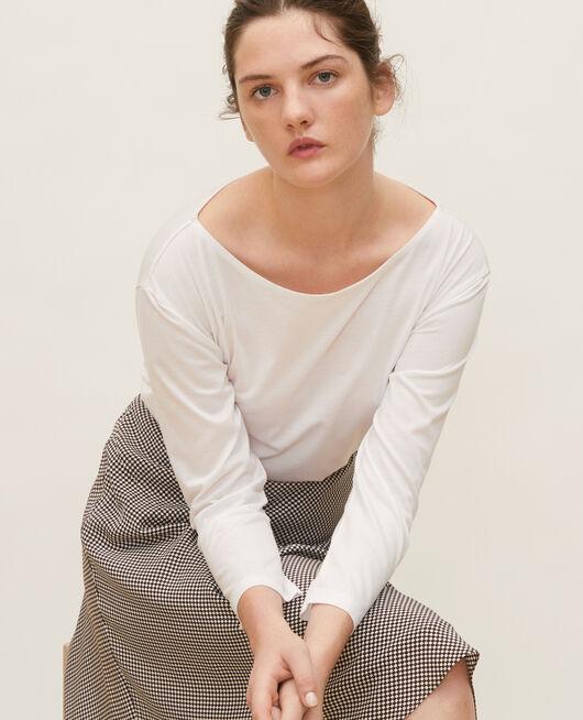 T-shirt en coton OPTICAL WHITE