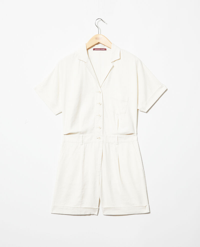 Combi-short col tailleur Off white Iclat