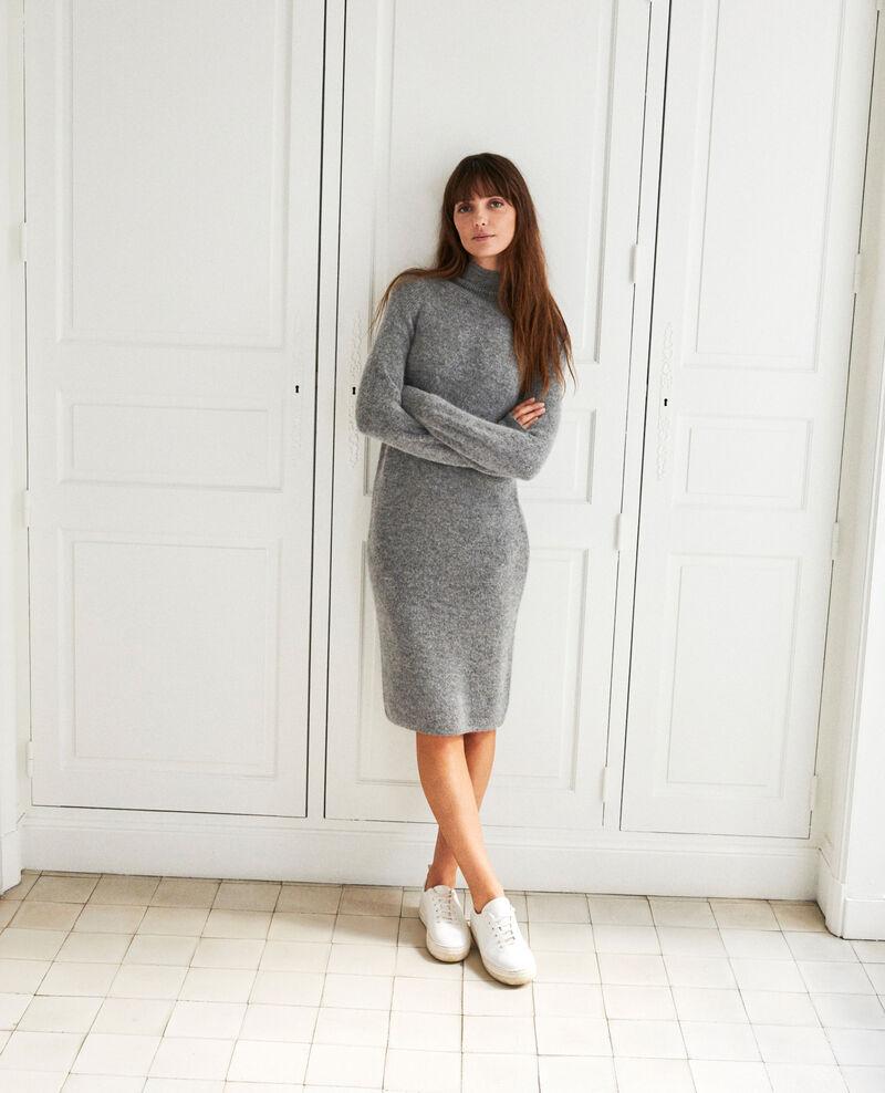 Robe longue en maille Middle grey Joupalou