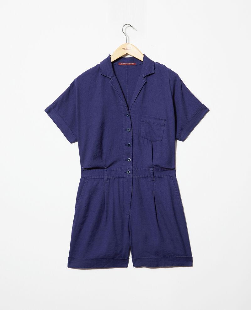 Combi-short col tailleur Sapphire navy Iclat