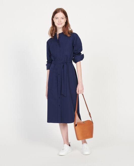 Robe en popeline de coton MARITIME BLUE