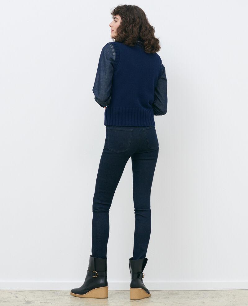 DANI - SKINNY - Jean taille haute Dark indigo Rauky