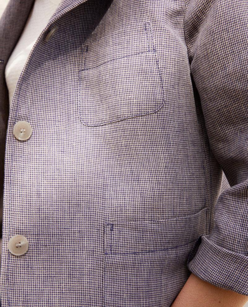 Veste de costume en lin Natural linen/ink navy Ikarus