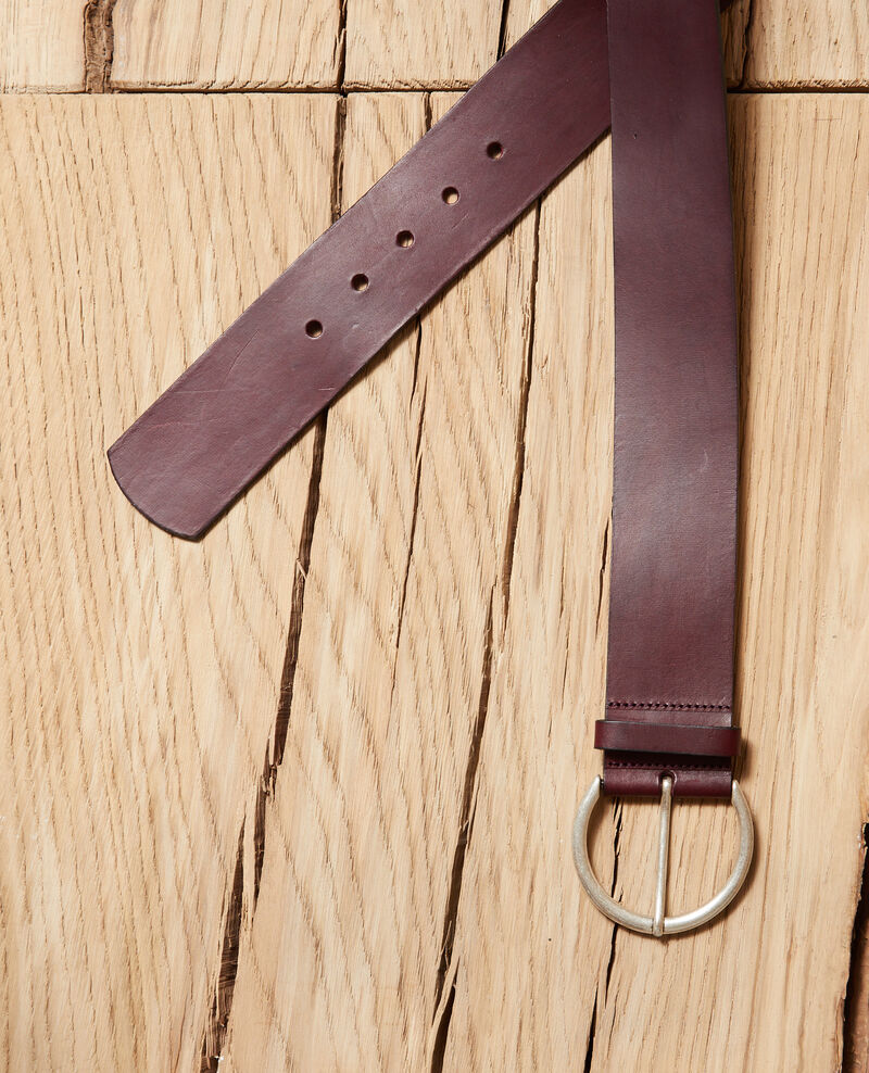 Ceinture en cuir large Decadente chocolate Garge