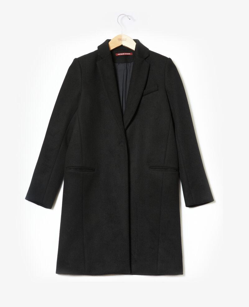 Manteau avec col de costume Noir 9vexpress