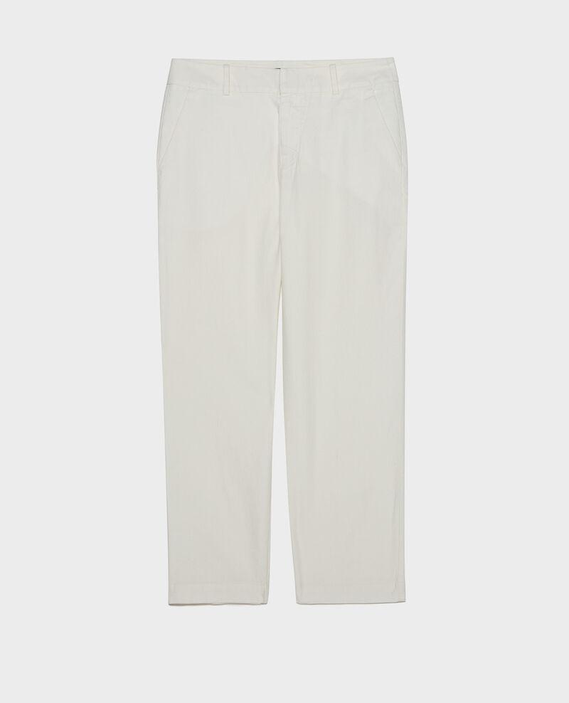 Pantalon 7/8e en lin Gardenia Laiguillon