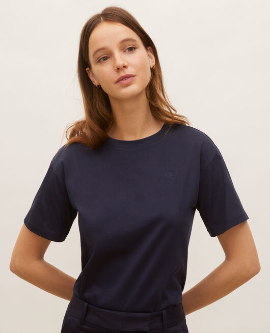 T-shirt en coton manches courtes ample NIGHT SKY