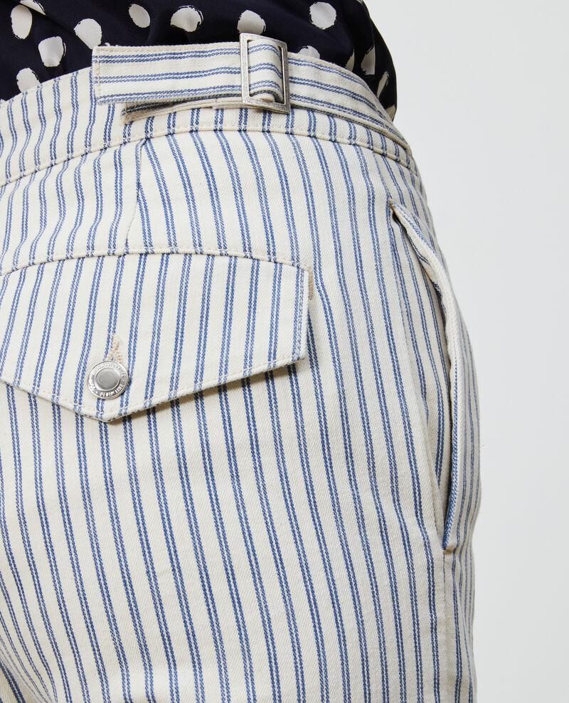 REGULAR - Pantalon en toile denim rayée Indigo stripe Naruk