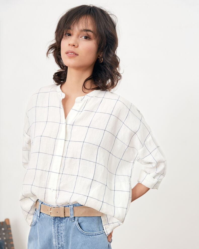 Blouse en lin Off white Fairplay