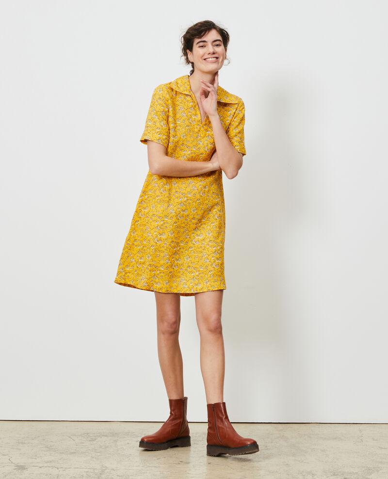 Robe vareuse en lin Indie-small-yellow Noaillesse