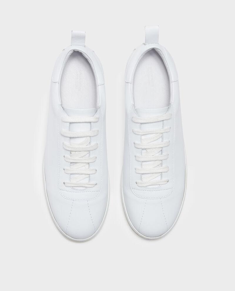 Sneaker en cuir  Optical white Lead