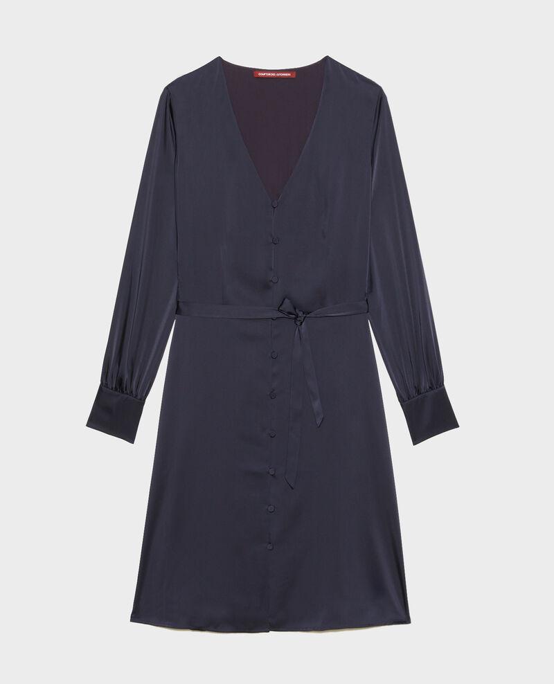 Robe courte ample boutonnée Night sky Margonou
