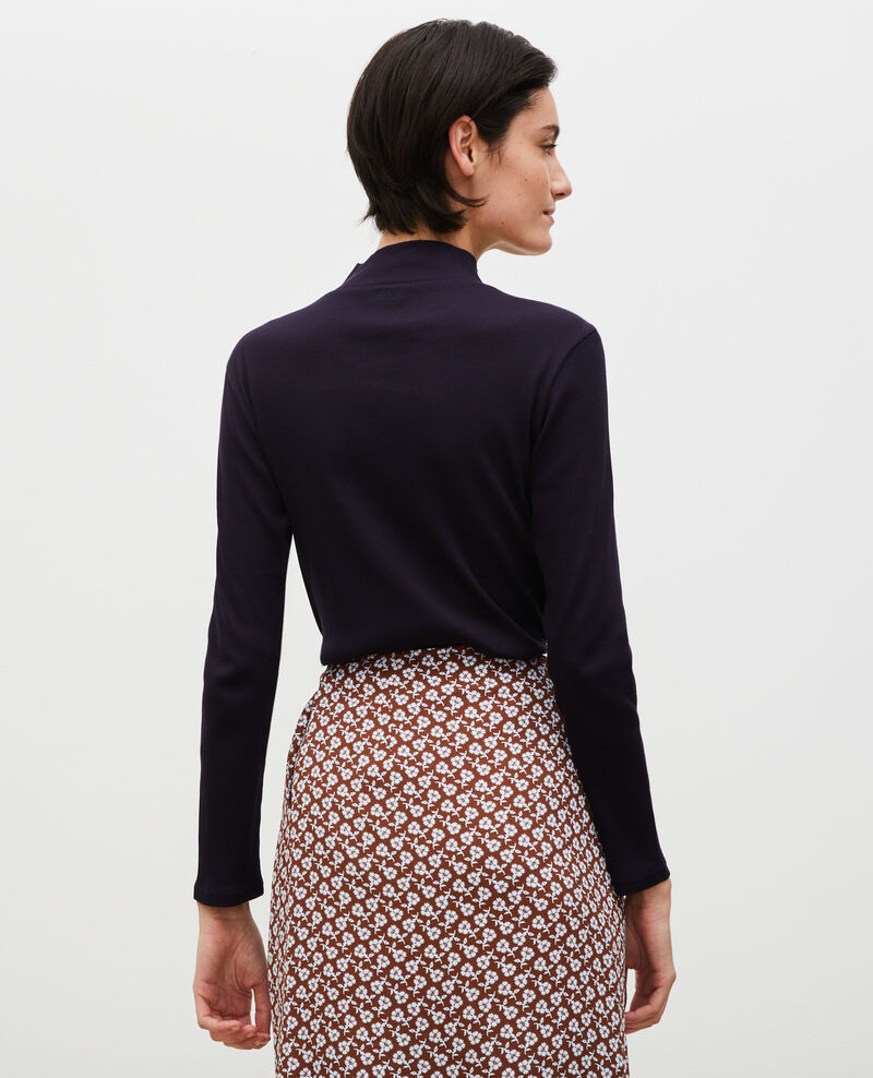 Pull manches longues en coton stretch Night sky Marval