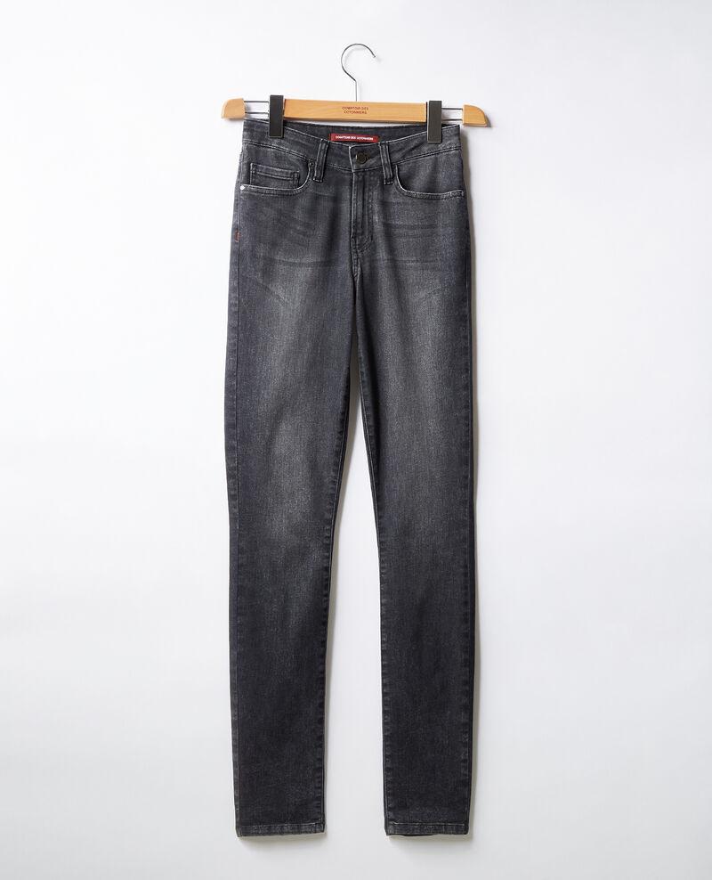 Jeans cigarette Dark grey Figiani