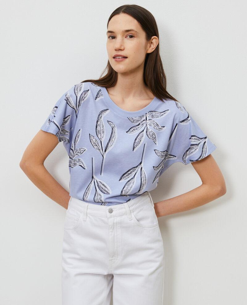 T-shirt col rond en coton Prt bot heron Nimeric