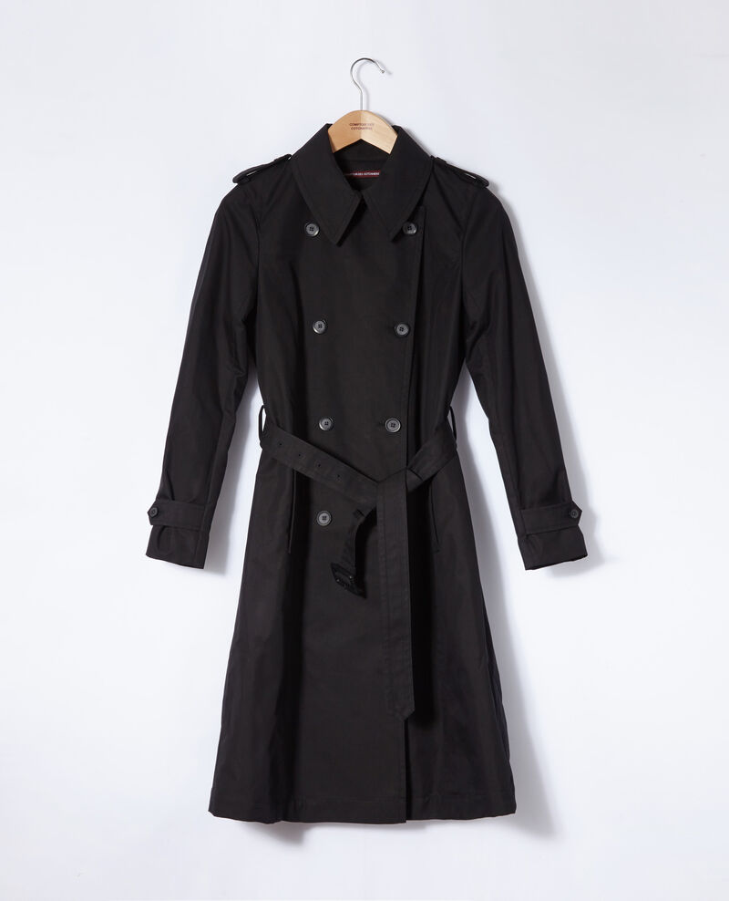 Trench intemporel Noir Gabien