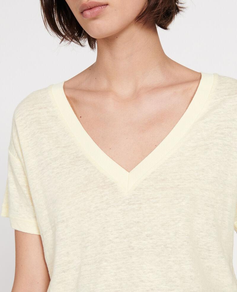 T-shirts en lin Tender yellow Locmelar