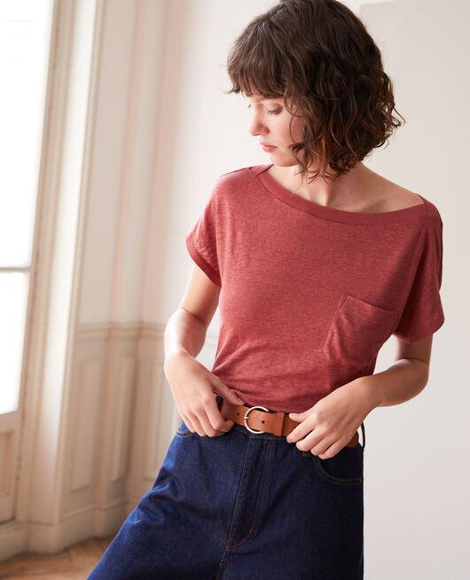 T-shirt avec poche COWHIDE