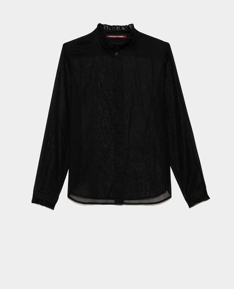 Chemise à col volanté Black beauty Nacelle