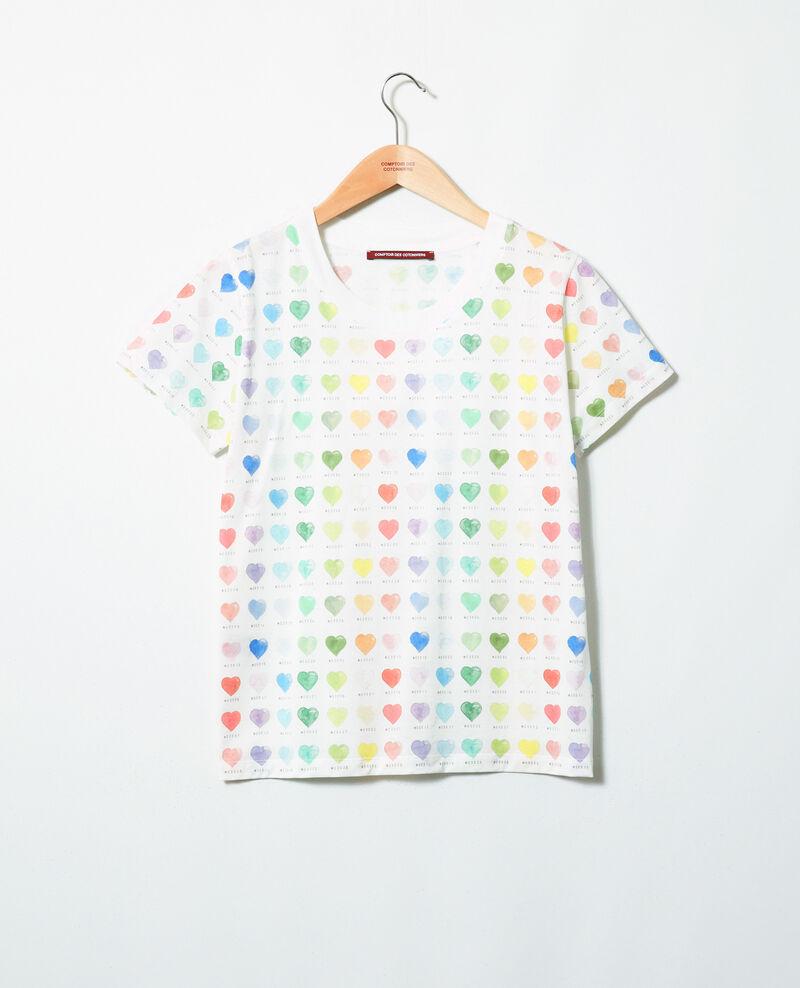 T-shirt imprimé cœur Off white Ilover