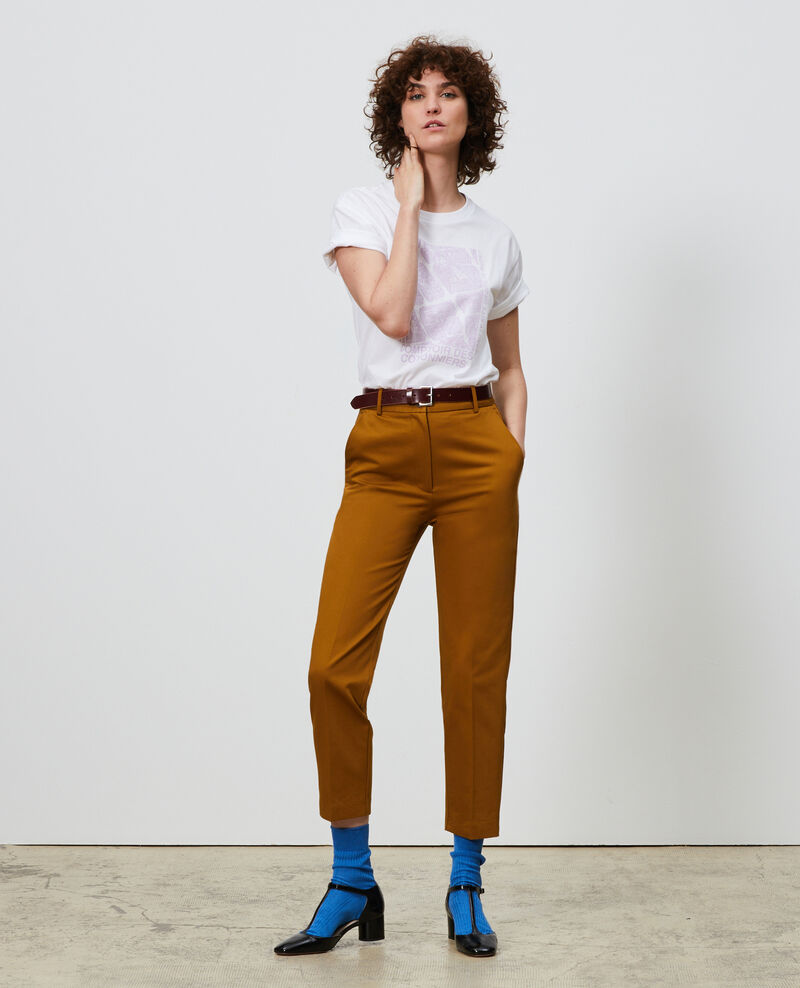 T-shirt en coton manches courtes Pastel lilac Marlane