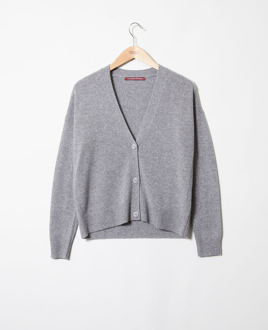 Cardigan en cahemire LIGHT GREY