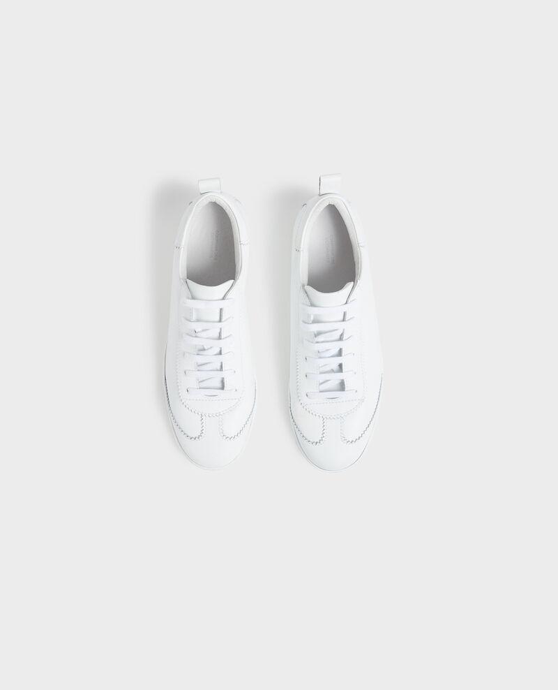 Sneaker en cuir à lacets Brilliant white Nouveau
