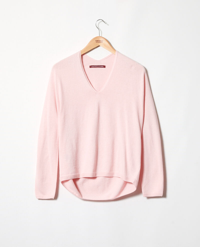 Pull 3D court avec du cachemire Pink icing Iopy