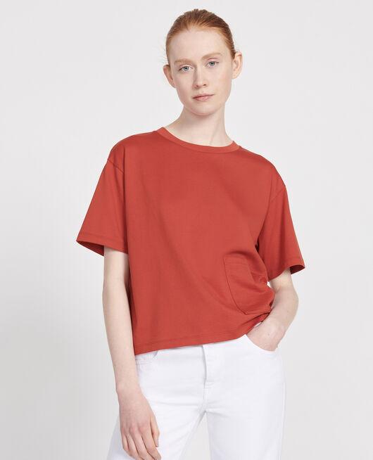 T-Shirt boxy en coton mercerisé KETCHUP