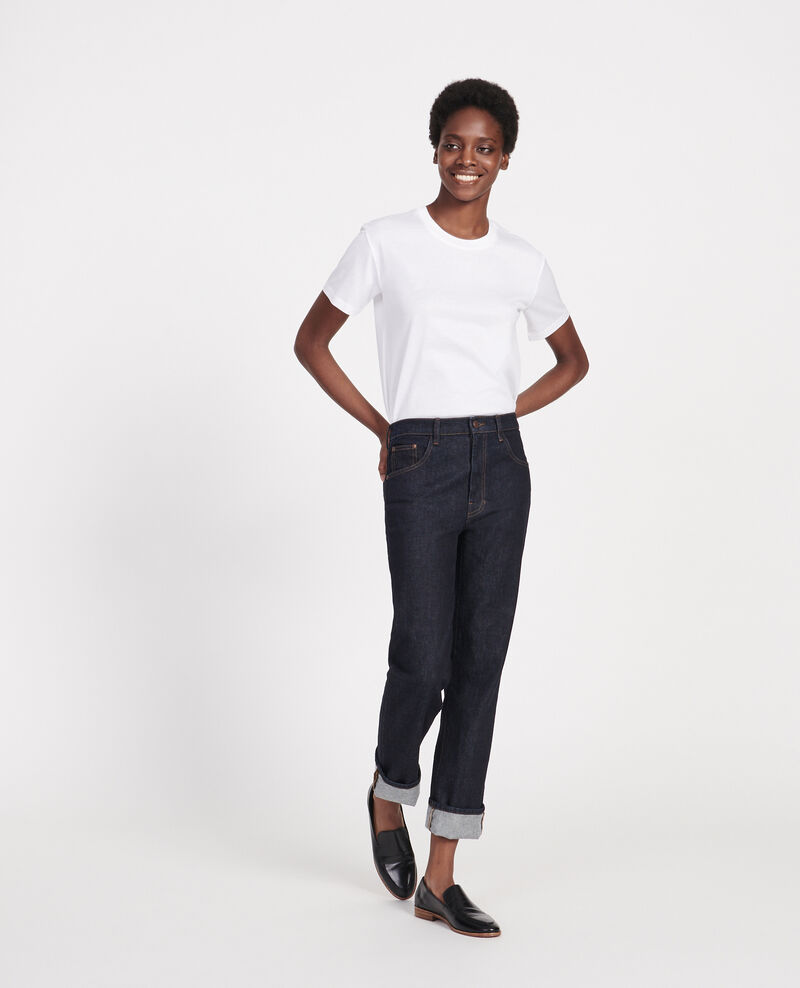 T-shirt classique en coton égyptien  Optical white Lirous