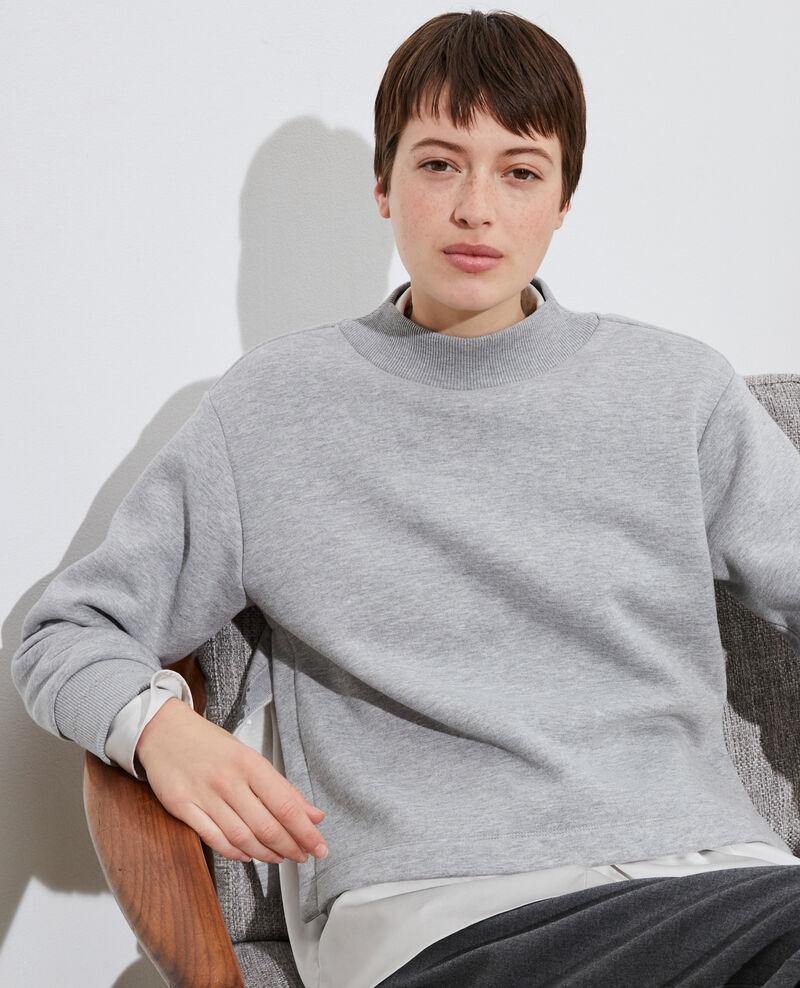 Sweatshirt col montant Gris chine Pexone