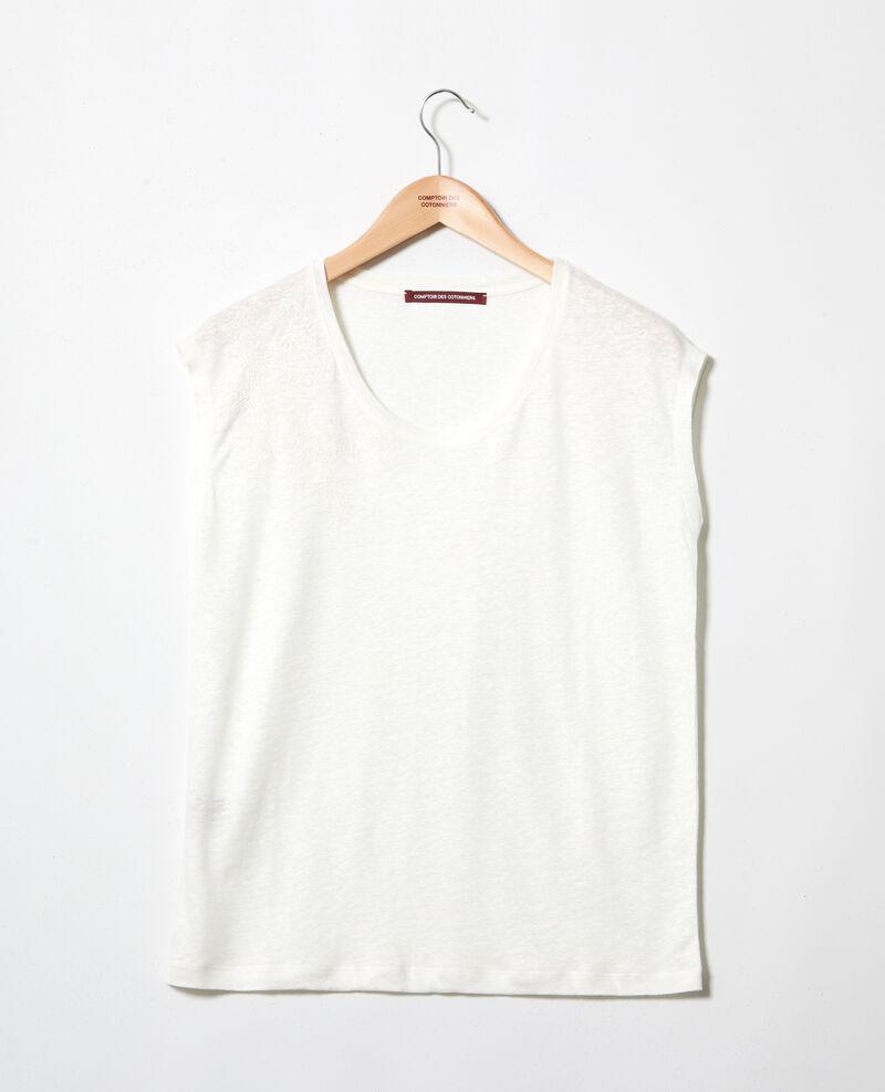 T-shirt en lin brodé Off white Imomo