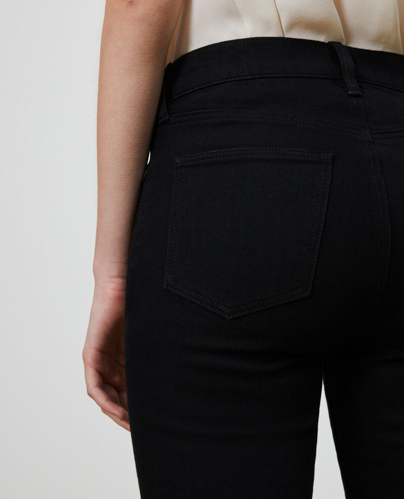 LILI - SLIM - Jean stretch noir Noir denim Nanblack
