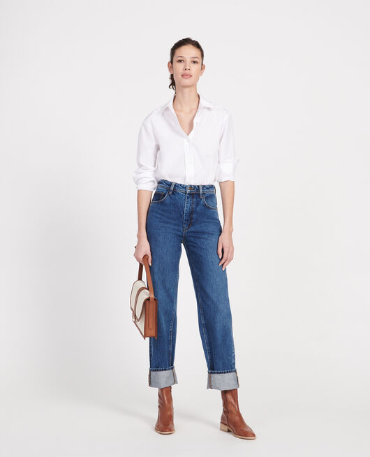 Jean délavé coupe droite  DENIM MEDIUM WASH
