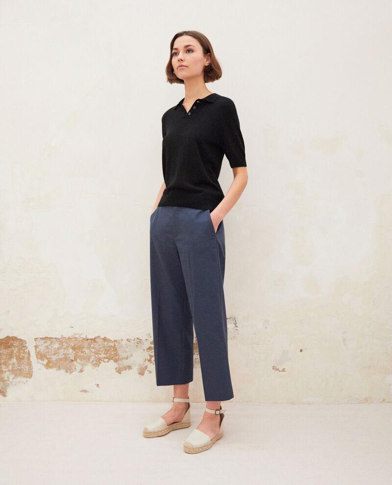 Pantalon coupe carotte Ink navy Idma