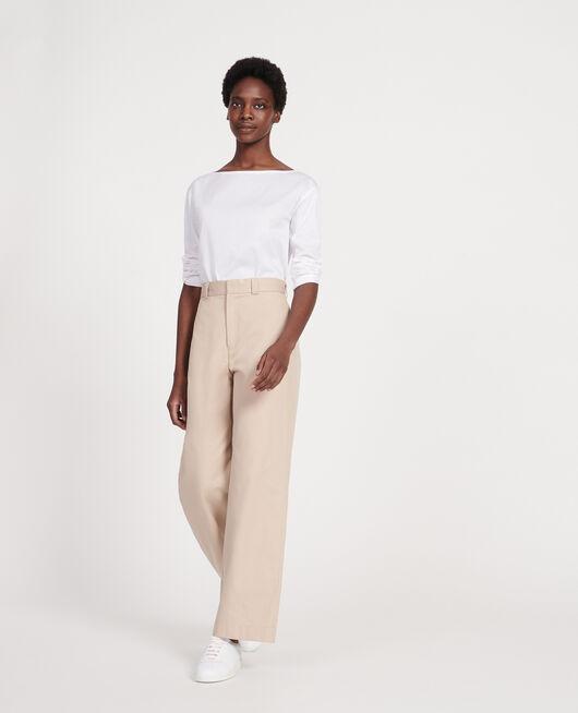 T-shirt en coton égyptien OPTICAL WHITE
