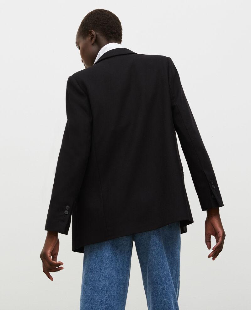 Blazer croisé en laine Black beauty Muciane