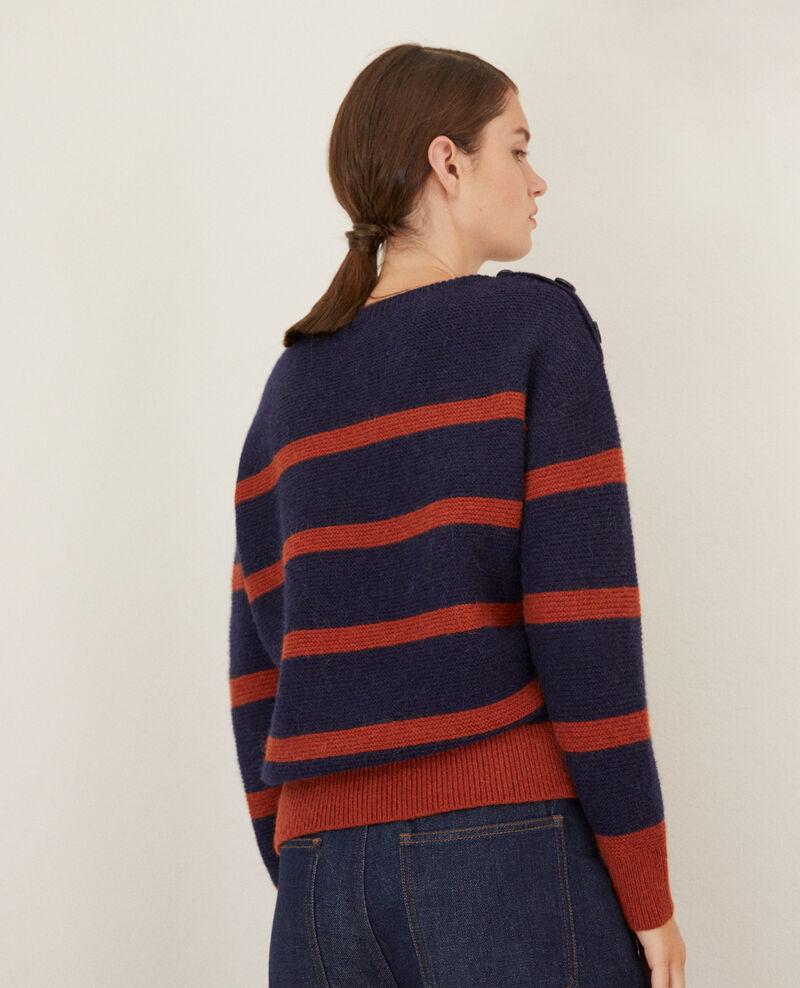 Pull col bateau Peacoat/picante Gipsy