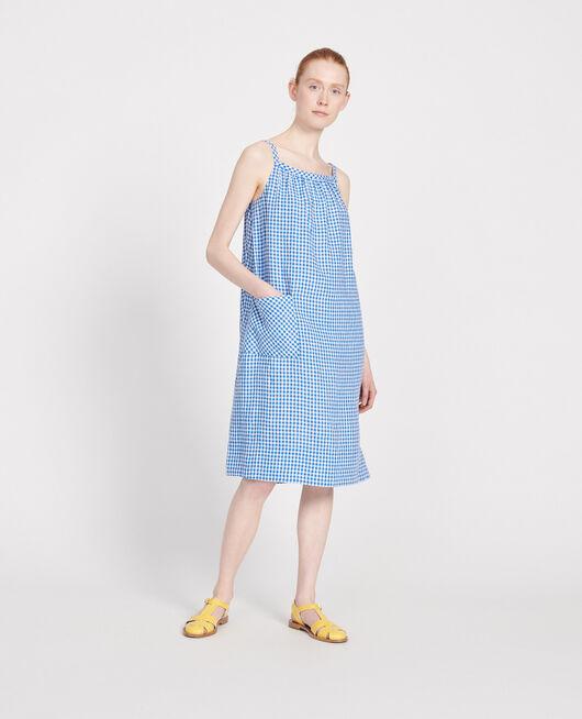 Robe en vichy VICHY PRINCESS BLUE GARDENIA