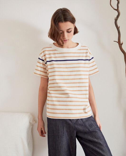 T-shirt marinière OW/CAMEL/NAVY