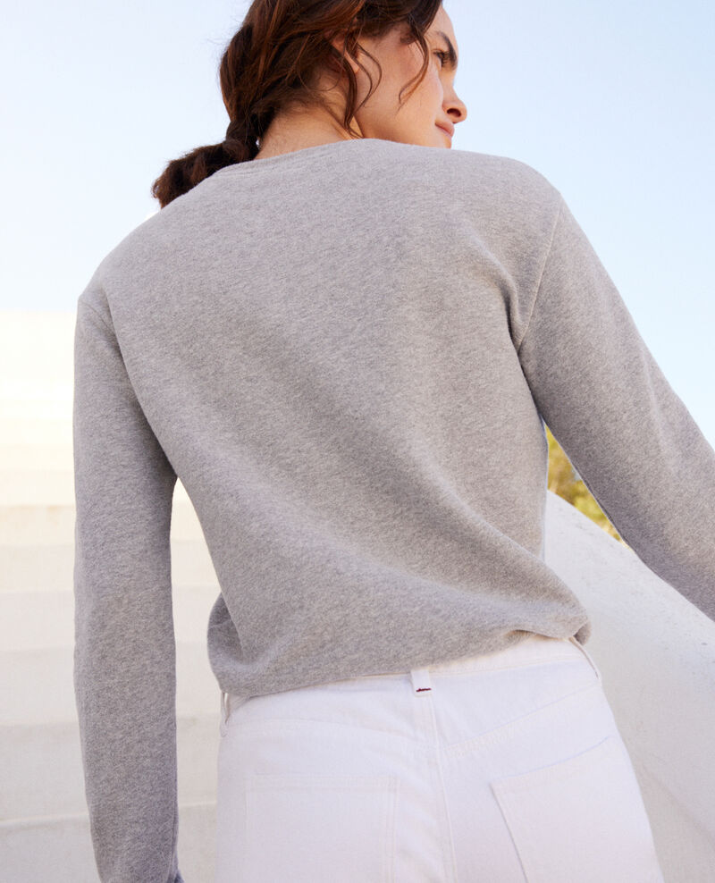 Sweatshirt avec cœur Heather grey Igamme