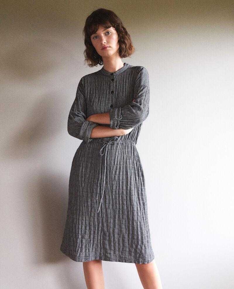 Robe élastiquée à la taille Black/white Gresil
