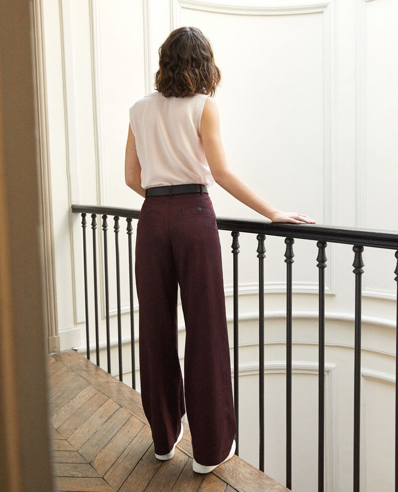 Pantalon coupe ample Decadente chocolate Gabin