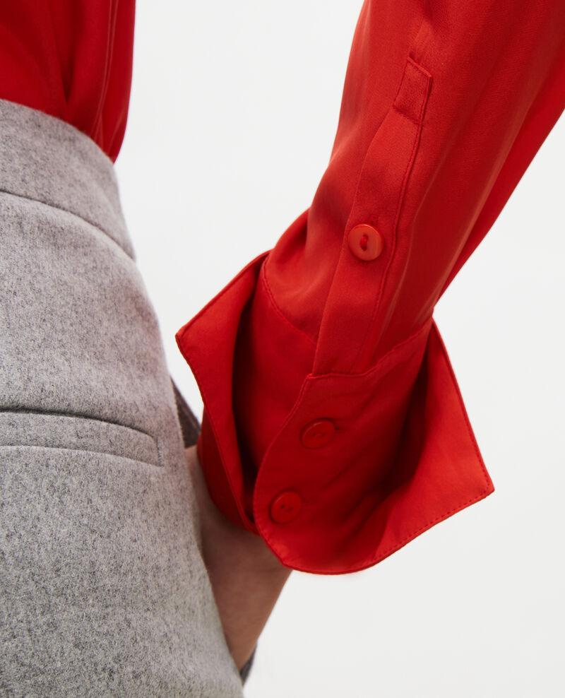 Chemise en soie manches longues col noué Valiant poppy Margueray