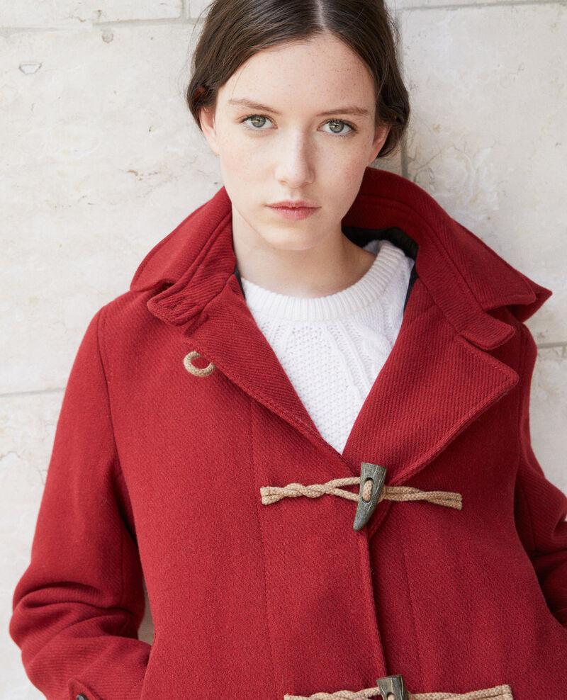 3f214c669df1 Manteau court femme style duffle-coat couleur Rio red - Gouziern ...