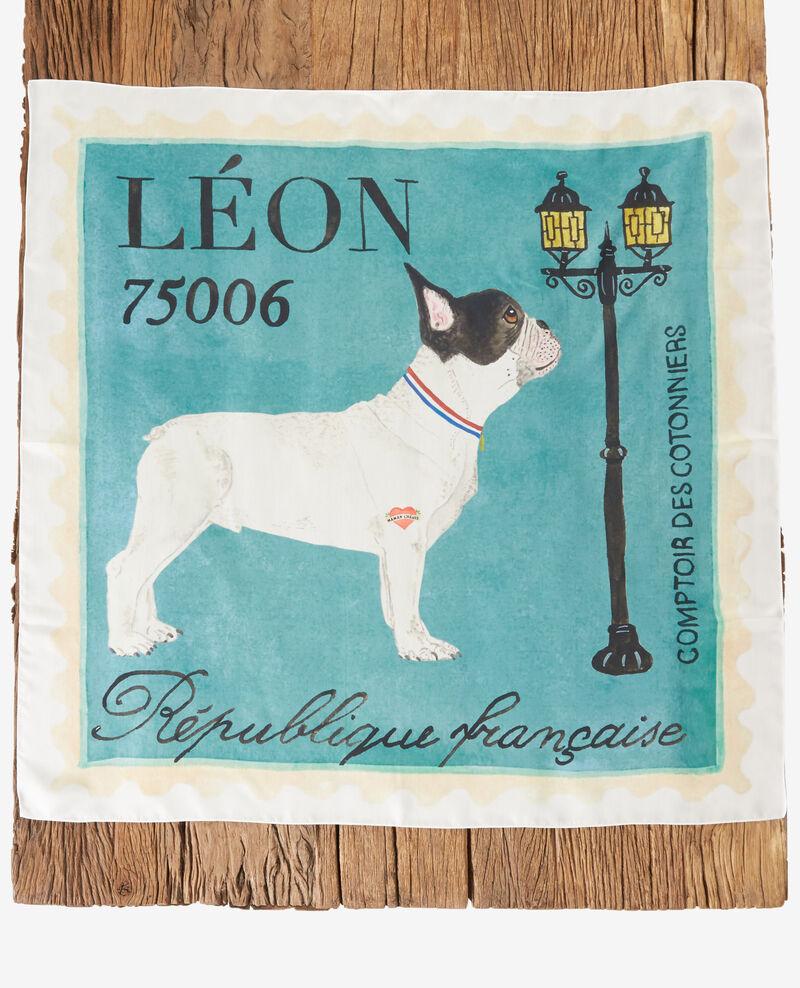 Carré de soie Léon Off white Felicite