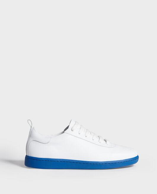 Sneaker en cuir à lacets WHITE PRINCESS BLUE