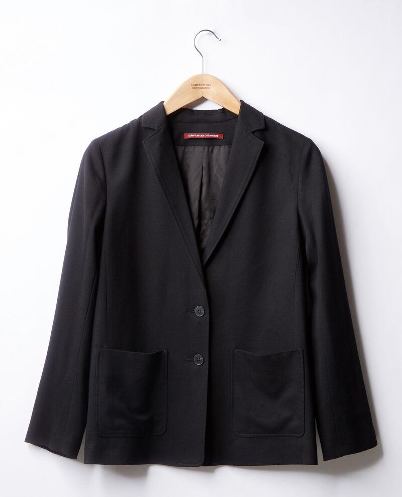 Veste avec laine Noir Falcone