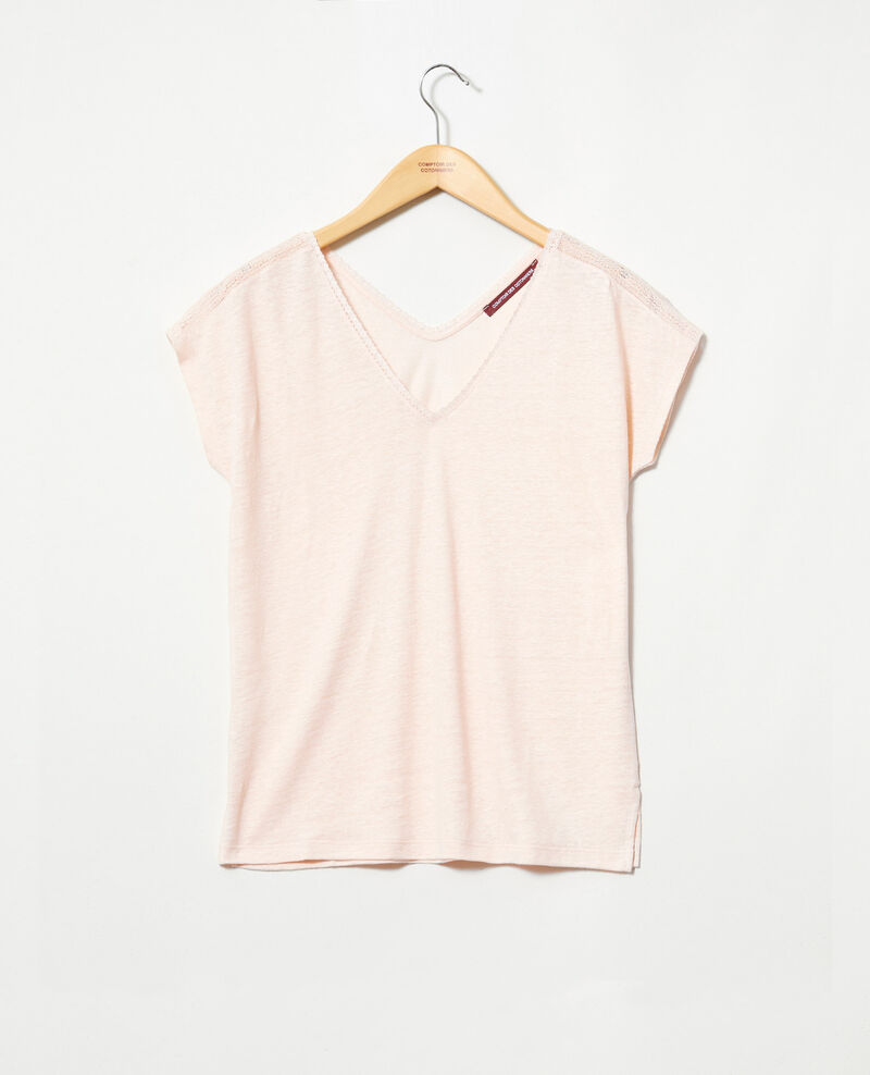 T-shirt en lin Light pink Itlanta