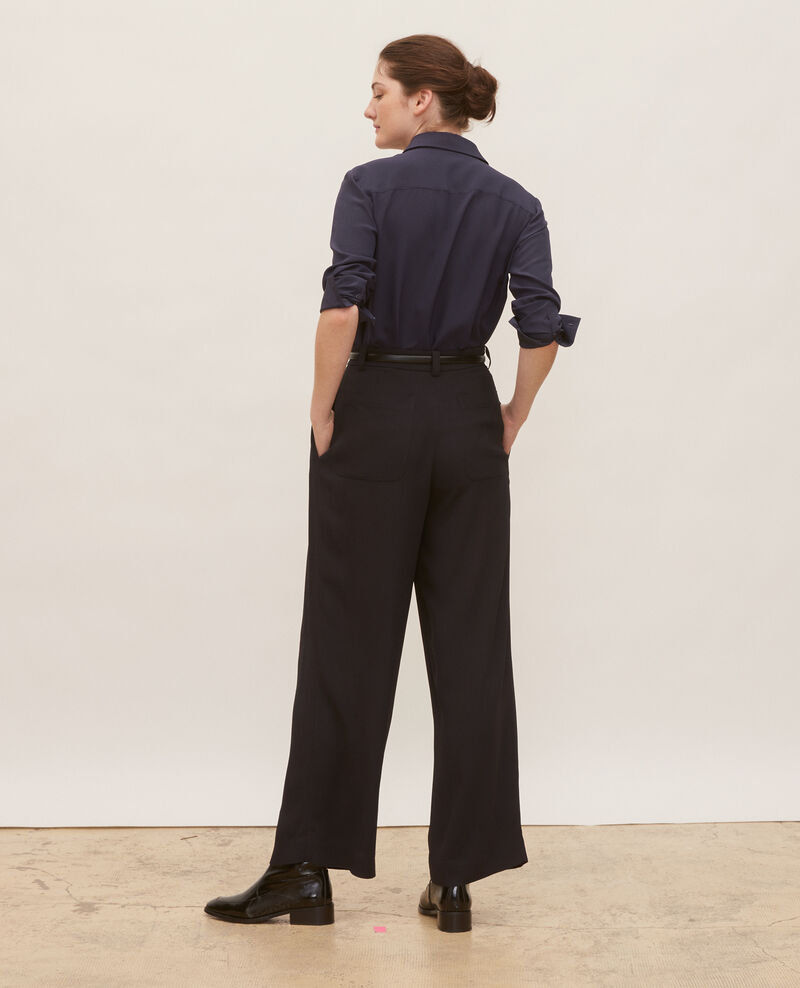 Pantalon large taille haute Black beauty Mogance